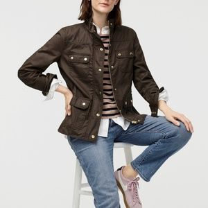 J Crew Downtown Field Jacket in Mossy Brown S